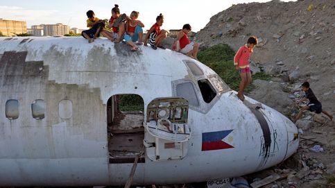 Un avión como juguete