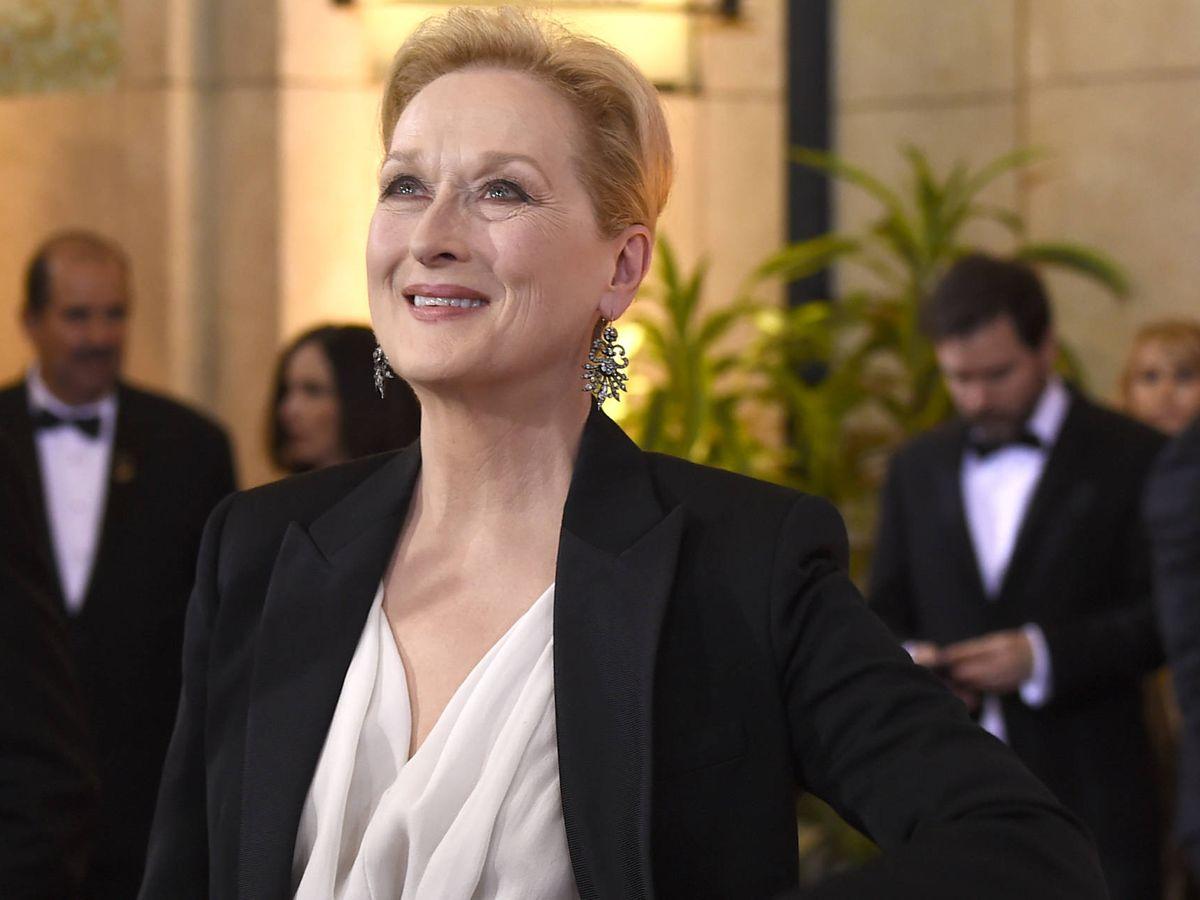 Foto: Meryl Streep con un maquillaje luminoso. (Getty)