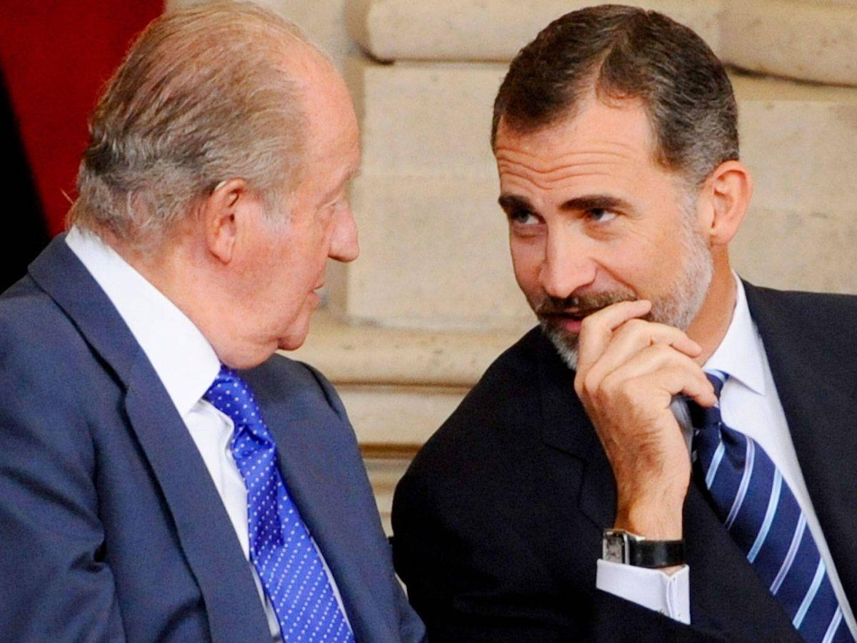Foto: Felipe VI y Juan Carlos. (Getty)
