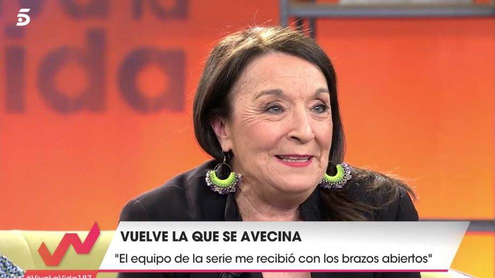 Foto: La actriz Petra Martínez, en 'Viva la vida'. (Mediaset)