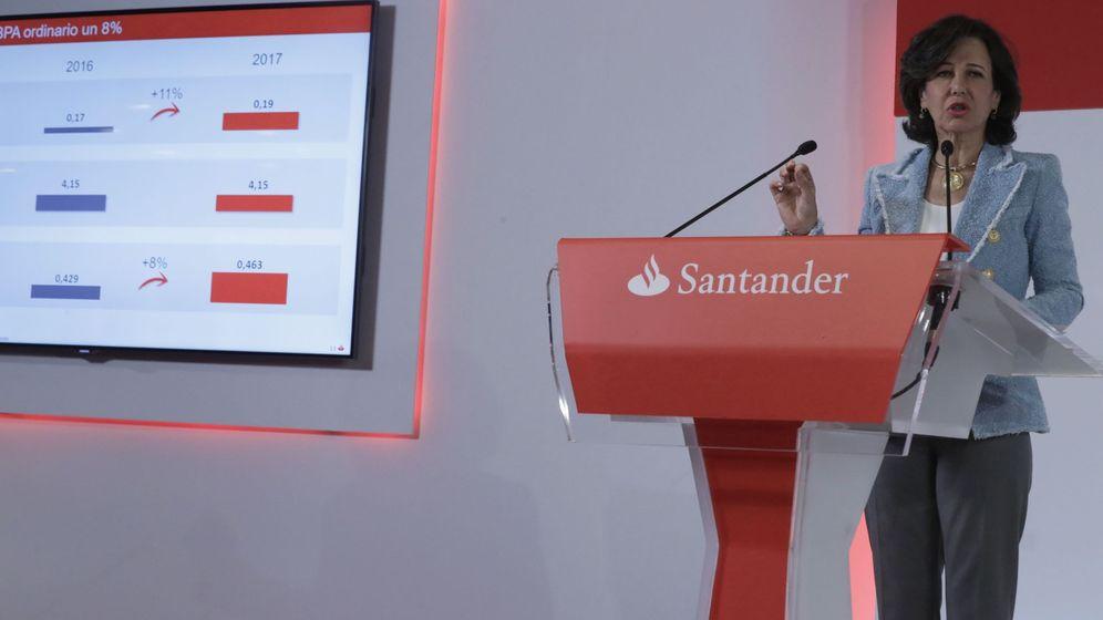 Foto: Banco Santander publica sus cuentas en 2017. (EFE)