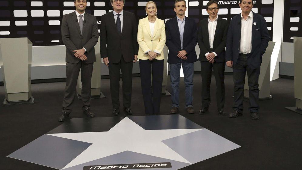 Foto: Imagen del debate 'a seis' celebrado en Telemadrid en la campaña electoral de mayo. (EFE)