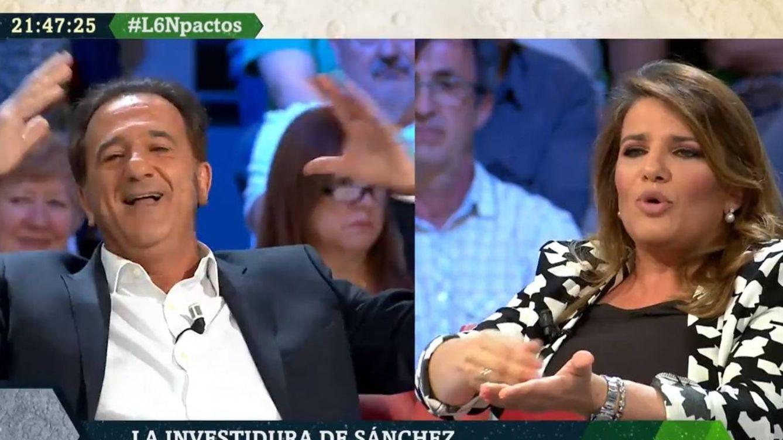 La teoría Drácula de María Claver sobre Sánchez revoluciona 'La Sexta noche'