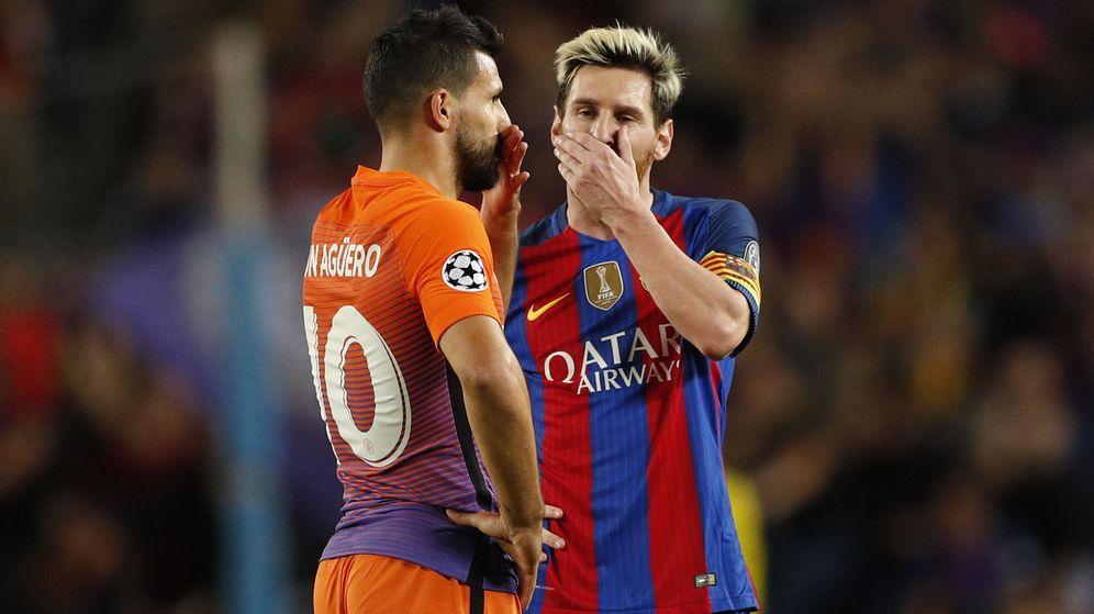 Foto: Messi y Agüero, amigos de toda la vida (John Sibley/Reuters).