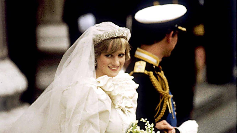 Foto: Diana y Carlos el día de su boda (Cordon Press)