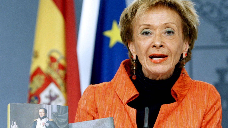 María Teresa Fernández de la Vega, en 2018. (EFE)