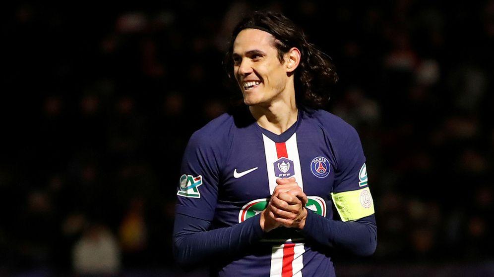 Foto: Edinson Cavani durante un partido con el Paris Saint Germain. (Efe)