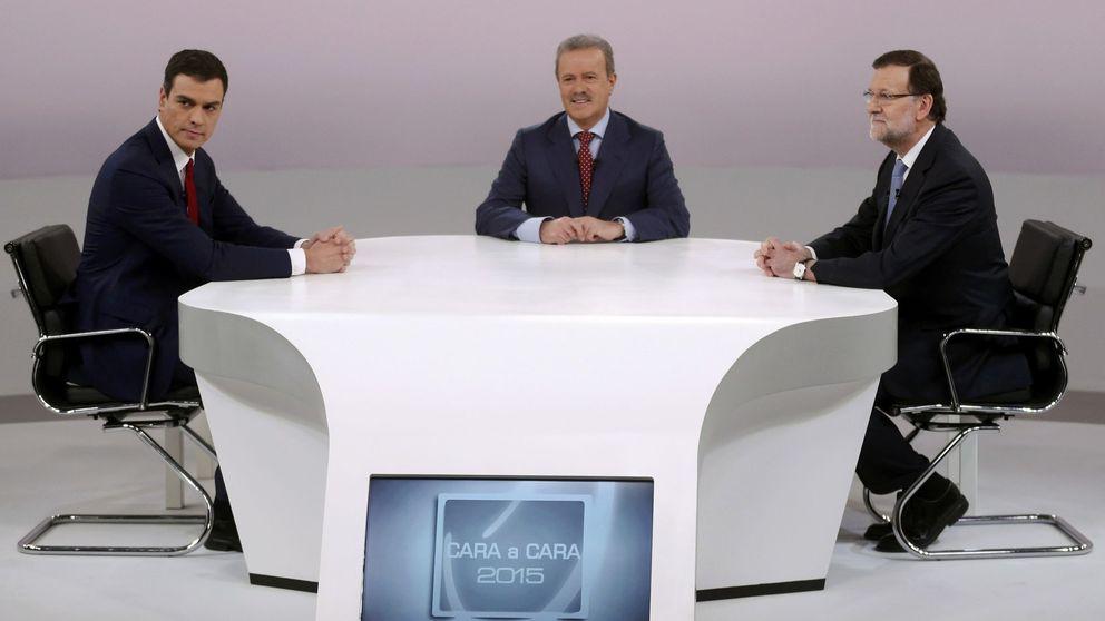 Y  Manuel Campo Vidal se sentó a tomar un cafecillo con Rajoy y Pedro Sánchez