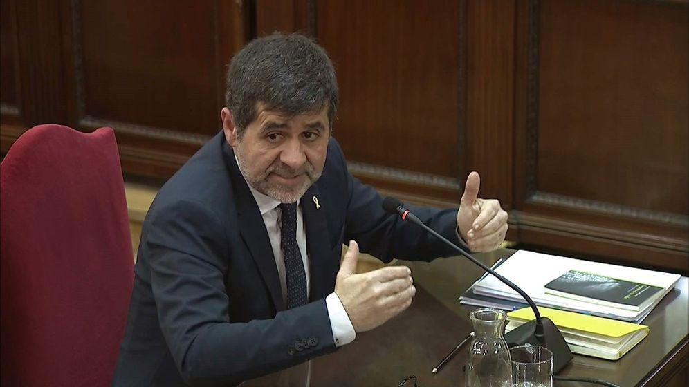 Foto: Jordi Sànchez, expresidente de la ANC, el pasado 21 de febrero, durante su declaración en el Supremo. (EFE)