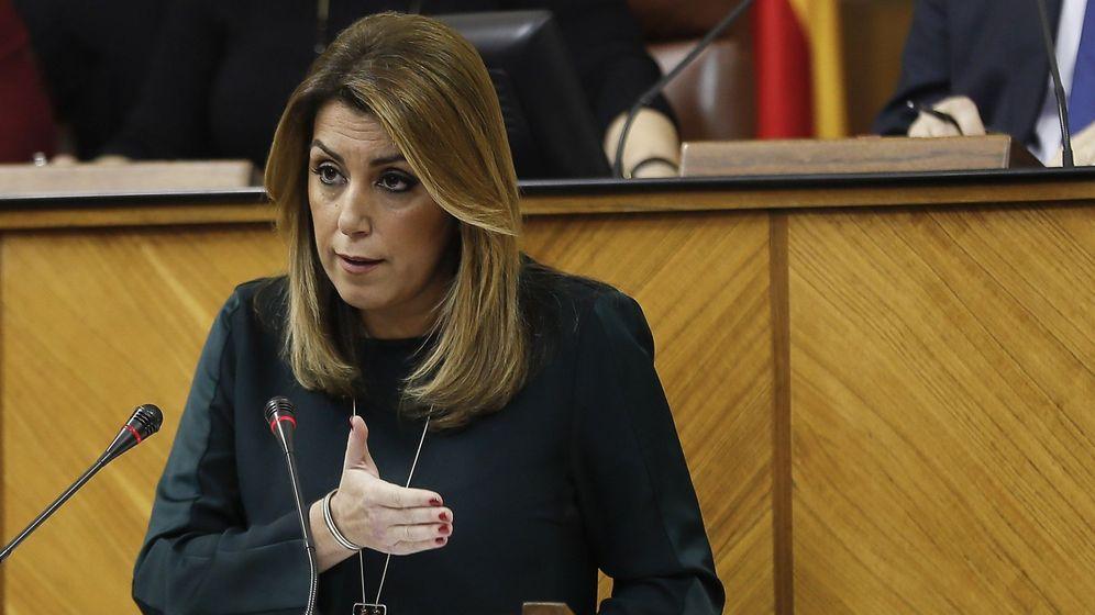 Foto: Susana Díaz en el debate sobre el estado de la Comunidad. (EFE)