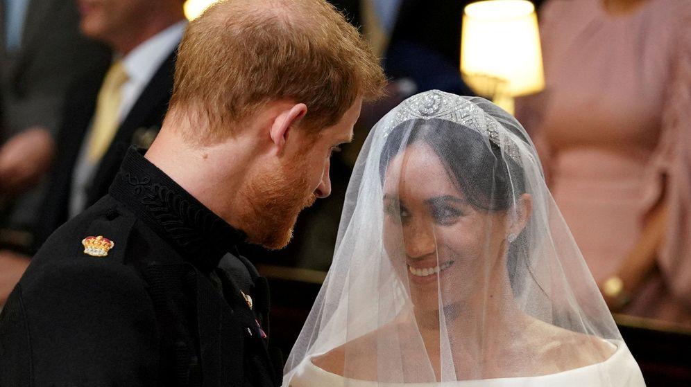 Foto: El príncipe Harry y Meghan Markle en la capilla de Saint George. (Reuters)