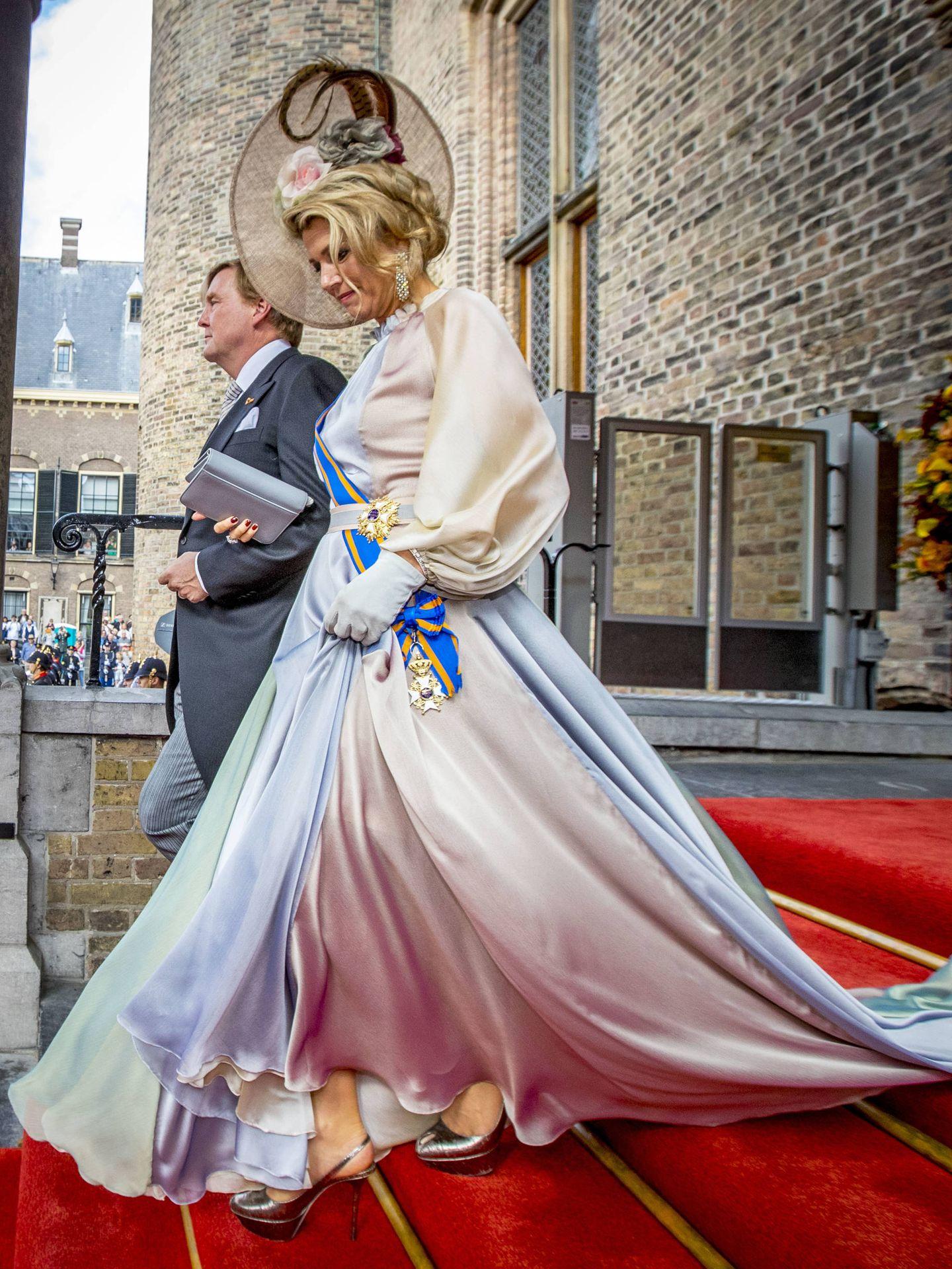 Los reyes, en el Prinsjesdag de 2018. (EFE)