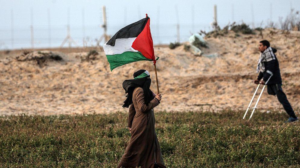 Foto: Manifestante palestina en territorios ocupados. (EFE)