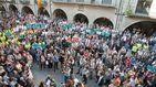 Manifestantes de la ANC ocupan la sede de la Comisión Europea en Barcelona