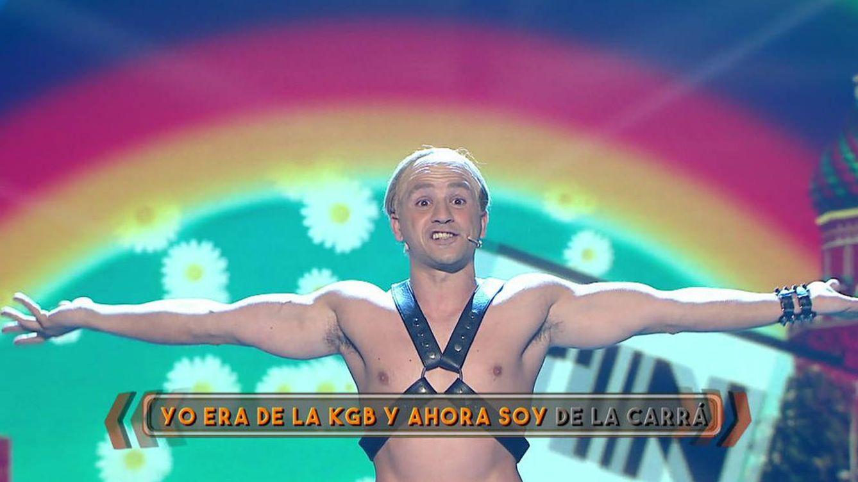 Telecinco homosexualiza y ridiculiza a Putin en 'Me lo dices o me lo cantas'