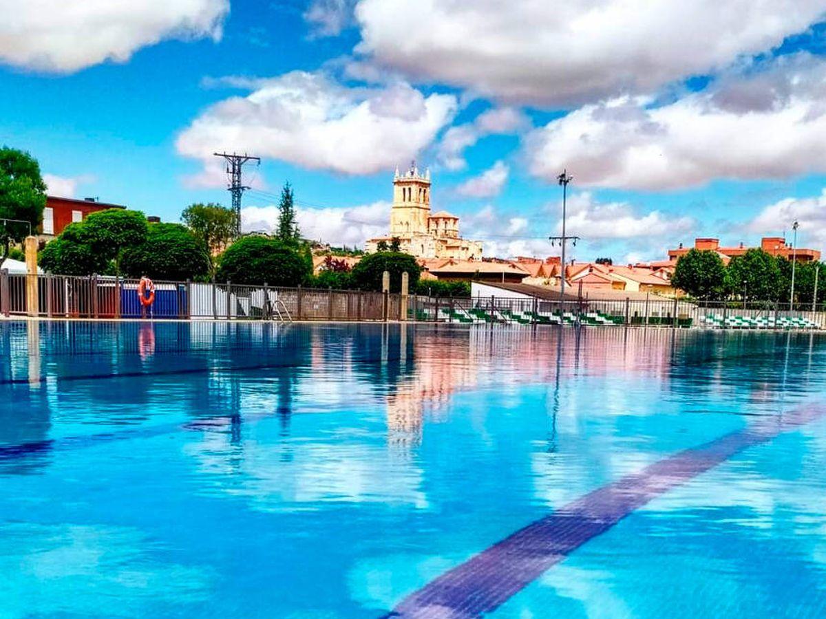 Foto: La piscina de Villamuriel de Cerrato, donde sucedieron los hechos (R. Casao)