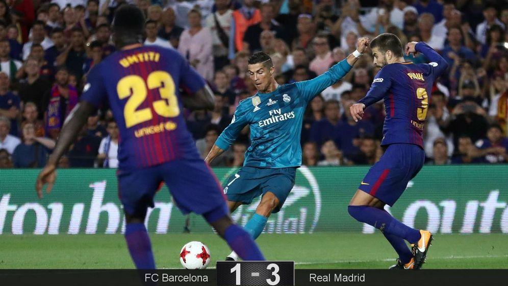 Foto: Cristiano Ronaldo marcó el 1-2 y luego fue expulsado. (EFE)