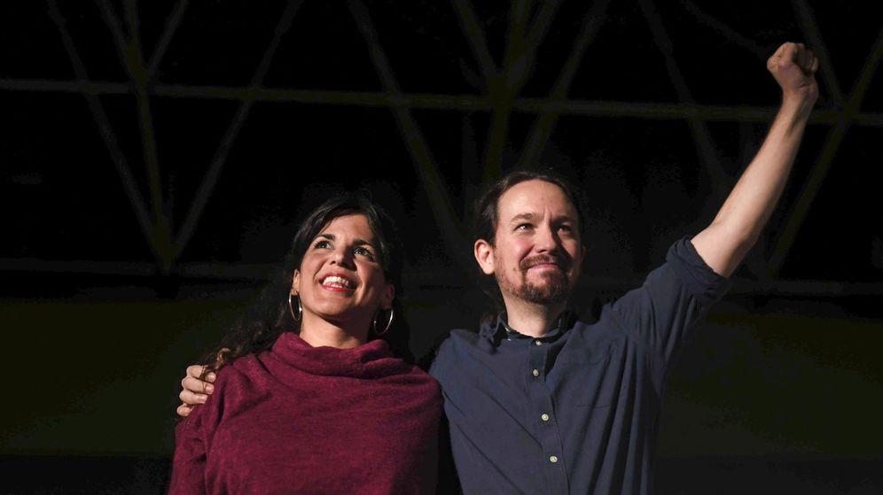 Foto: Fotografía de archivo de Teresa Rodríguez y Pablo Iglesias. (EFE)