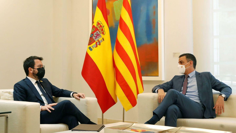 Pedro Sánchez y Pere Aragonès. (EFE)