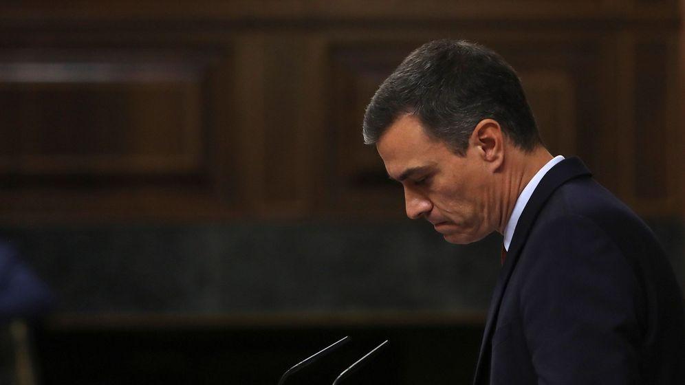Foto: Pedro Sánchez durante la primera jornada del debate de investidura. (EFE)