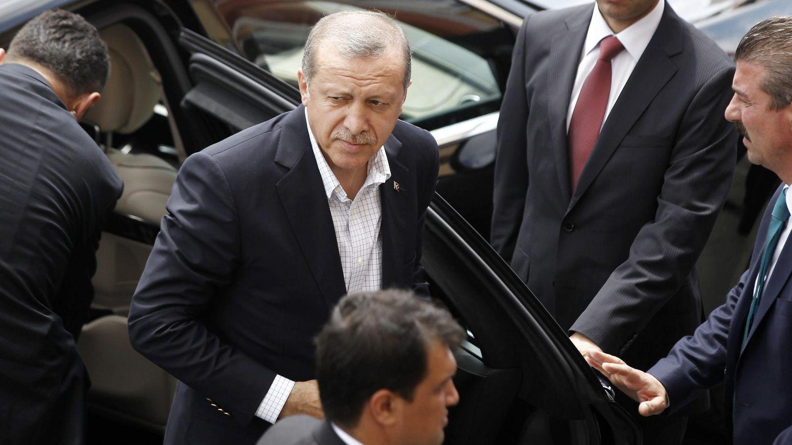 Foto: Erdogan durante la jornada electoral del domingo (Efe).