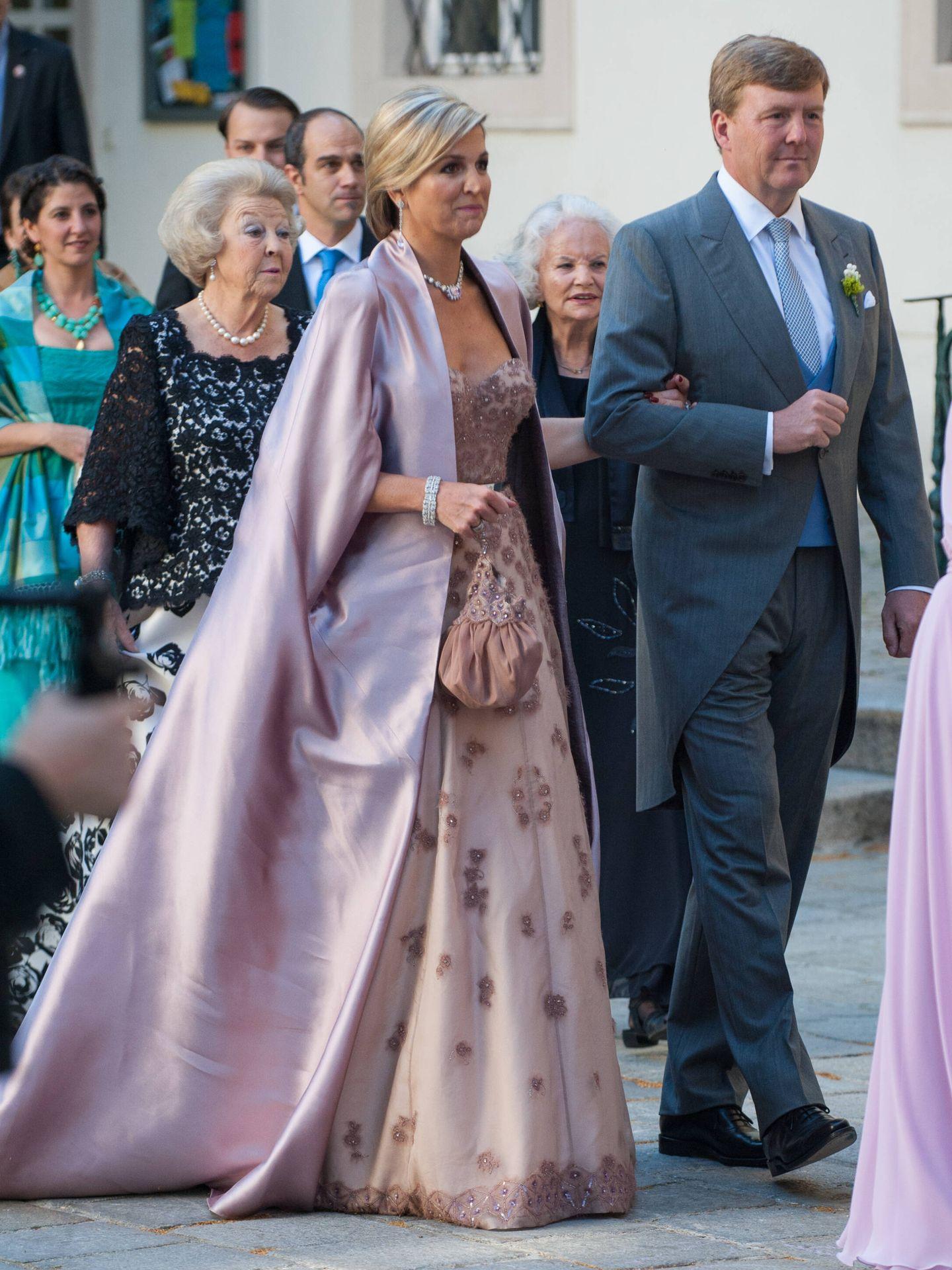Máxima, en la boda de su hermano. (Getty)