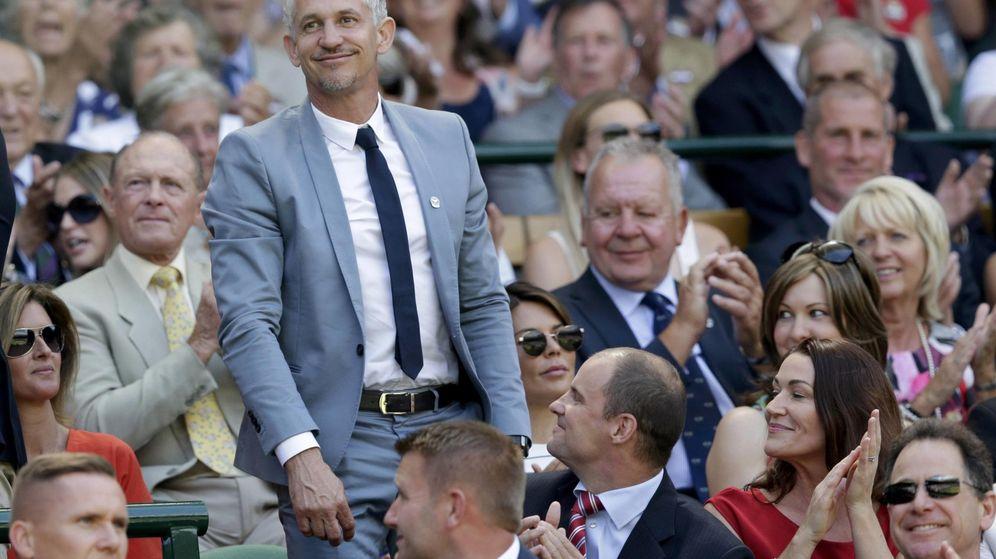 Foto: Gary Lineker, en Wimbledon. (EFE)