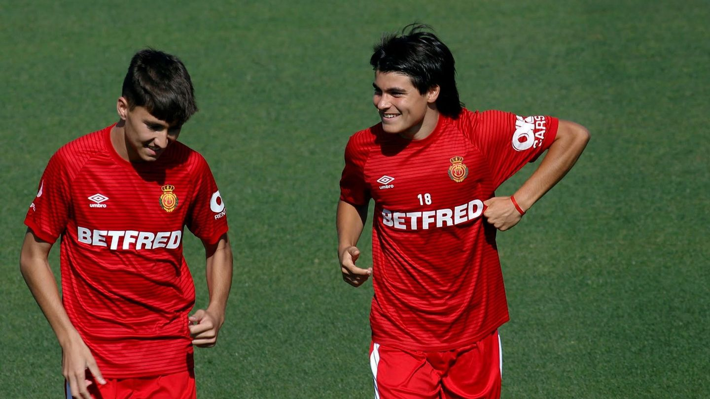 Luka Romero en un entrenamiento del Mallorca. (EFE)