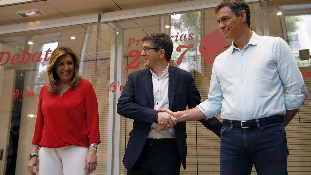 Foto: Los candidatos a la Secretaría General del PSOE, Susana Díaz (i), Patxi López (c) y Pedro Sánchez. (EFE)