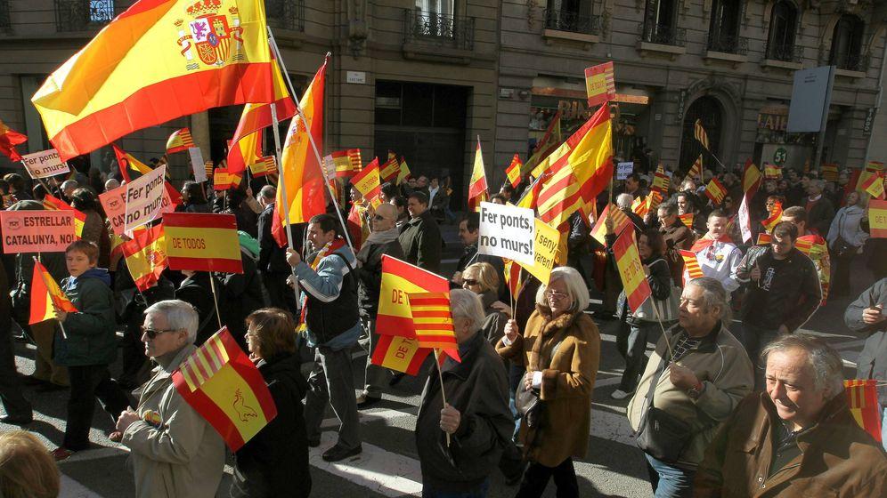 Foto: Manifestación constitucionalista en Barcelona.