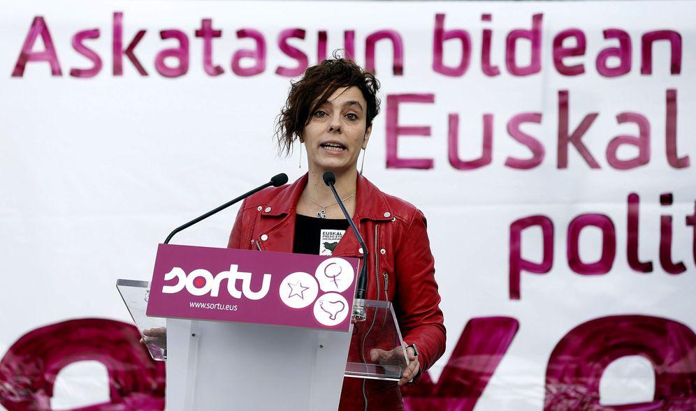 Foto: Izko, durante una comparecencia como portavoz de Sortu. (EFE)