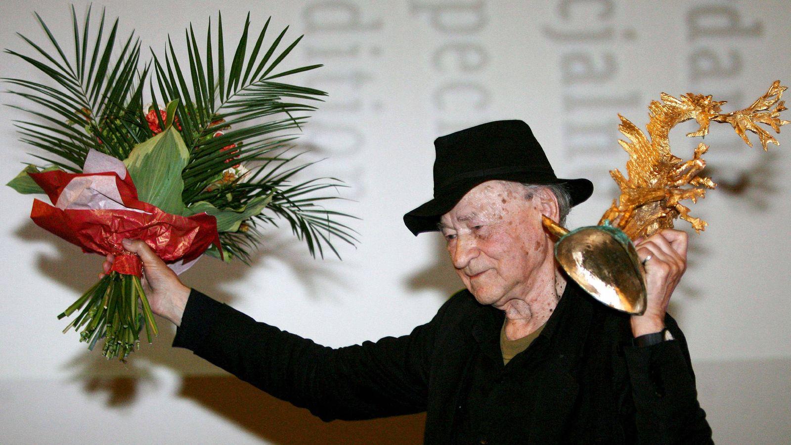 Foto: Jonas Mekas en una imagen de archivo de 2010. (Efe)