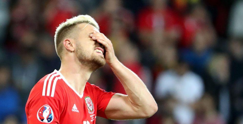 Foto: Aaron Ramsey, sancionado, es una baja capital para Gales ante su partido contra Portugal (EFE)