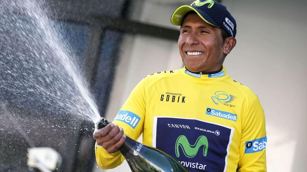 Foto: Quintana celebra su triunfo en la general (Manuel Bruque/EFE).