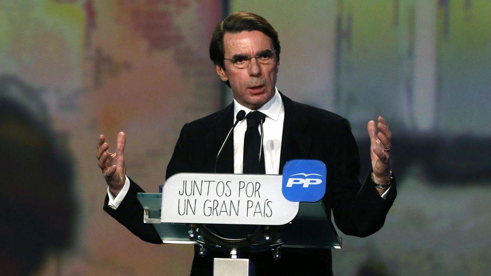 """Aznar pide a Mariano Rajoy """"más PP"""" para ganar las elecciones"""