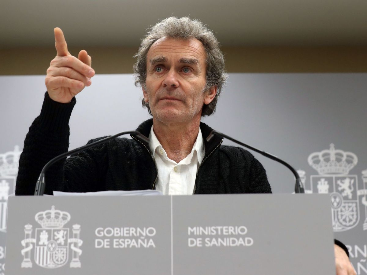 Foto: Rueda de prensa de Fernando Simón. (Efe)
