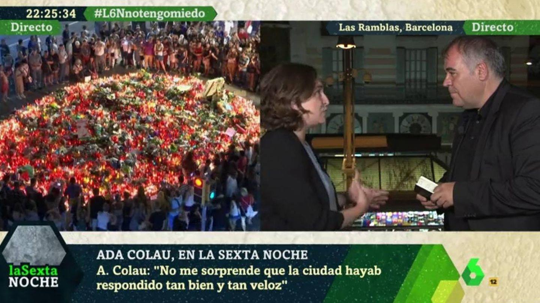 Antonio García Ferreras, entrevistando a Ada Colau para 'La Sexta Noche'.