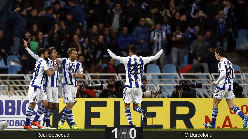 La impotencia del Barcelona en Anoeta resucita una liga que ya tenía ganada