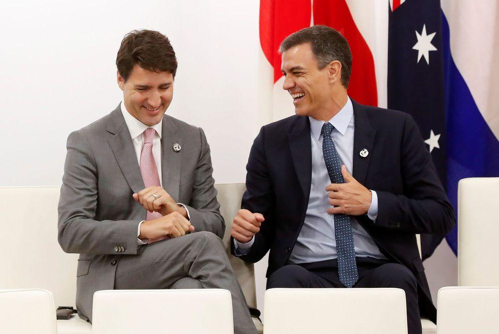 Foto: El primer ministro de Canadá, Justin Trudeau, y el presidente del Gobierno de España, Pedro Sánchez. (EFE)