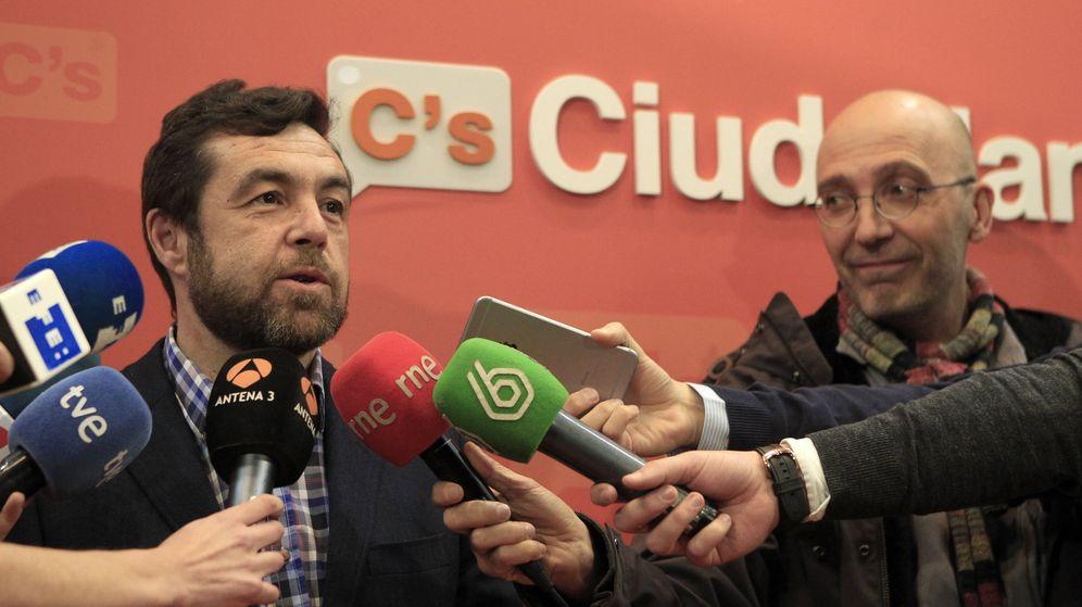 Foto: El secretario general de Ciudadanos en el Congreso, Miguel Gutiérrez, este sábado. (EFE)