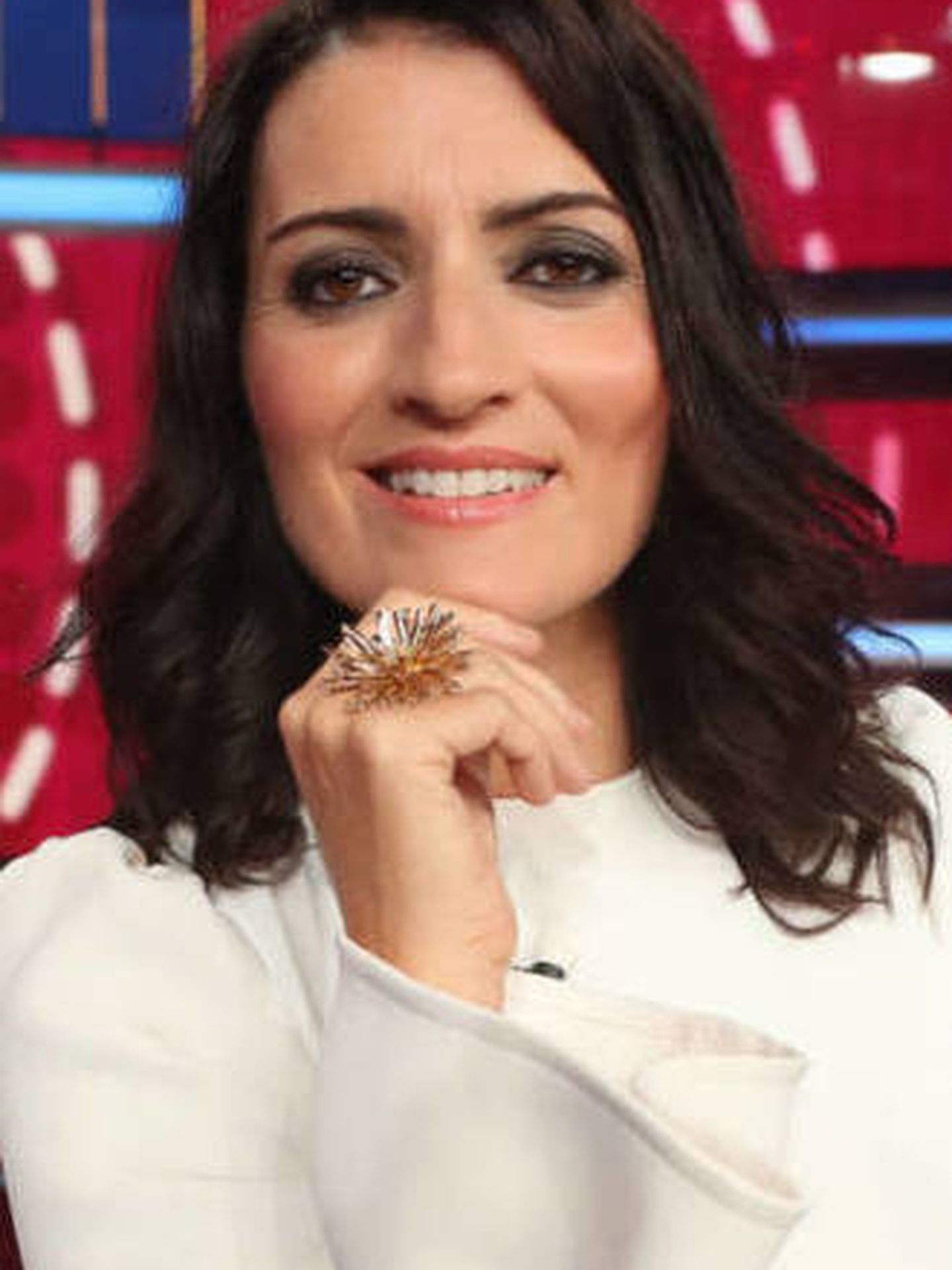 Silvia Abril en el plató de 'Tú si que sí'. (Atresmedia TV)