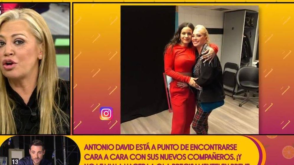 Foto: Belén Esteban hablando de Rosalía en 'Sálvame'. (Mediaset)