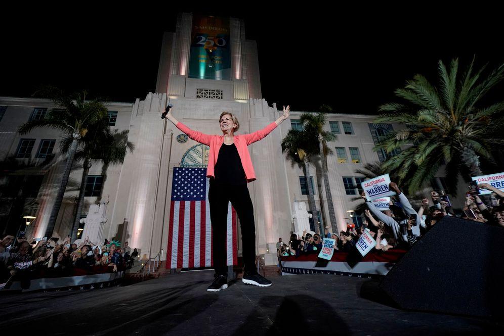 Foto: Elizabeth Warren en San Diego, California. (Mike Blake/Reuters)