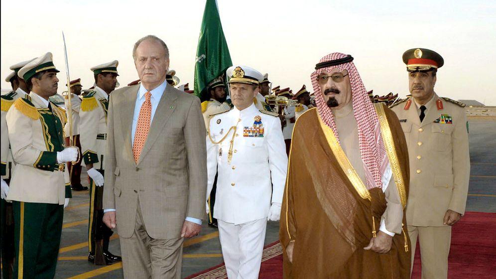 Foto: El Rey Emérito con el rey Abdullah bin Abdul Aziz.