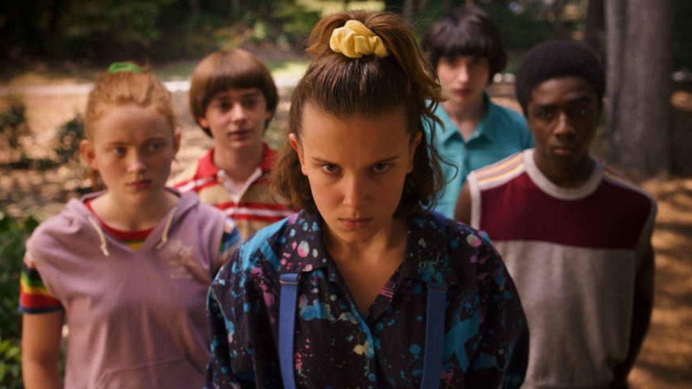 Foto: Eleven y sus amigos en la tercera temporada de 'Stranger Things'. (Netflix)
