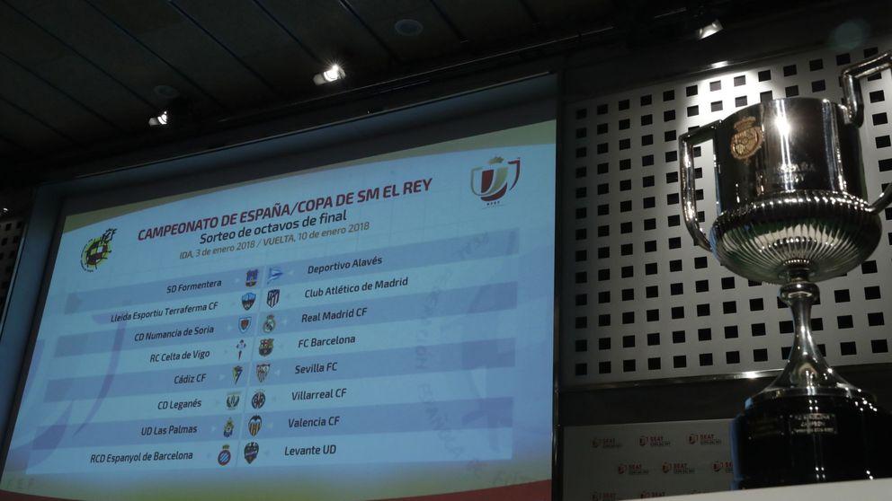 Lleida-Atlético, Numancia-Real Madrid y Celta-Barcelona, en los octavos de Copa