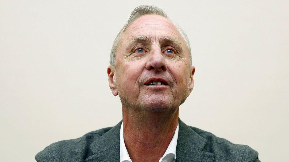 Foto: Johan Cruyff en una de sus últimas apariciones públicas (Andreu Dalmau/Efe)