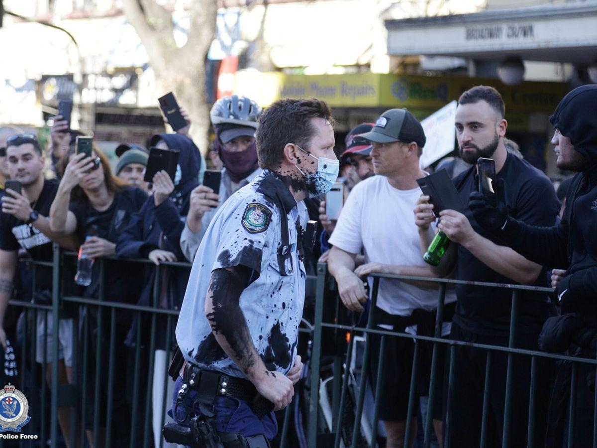 Foto: La policía tuvo que emplearse a fondo en la última protesta en Sídney (Reuters)