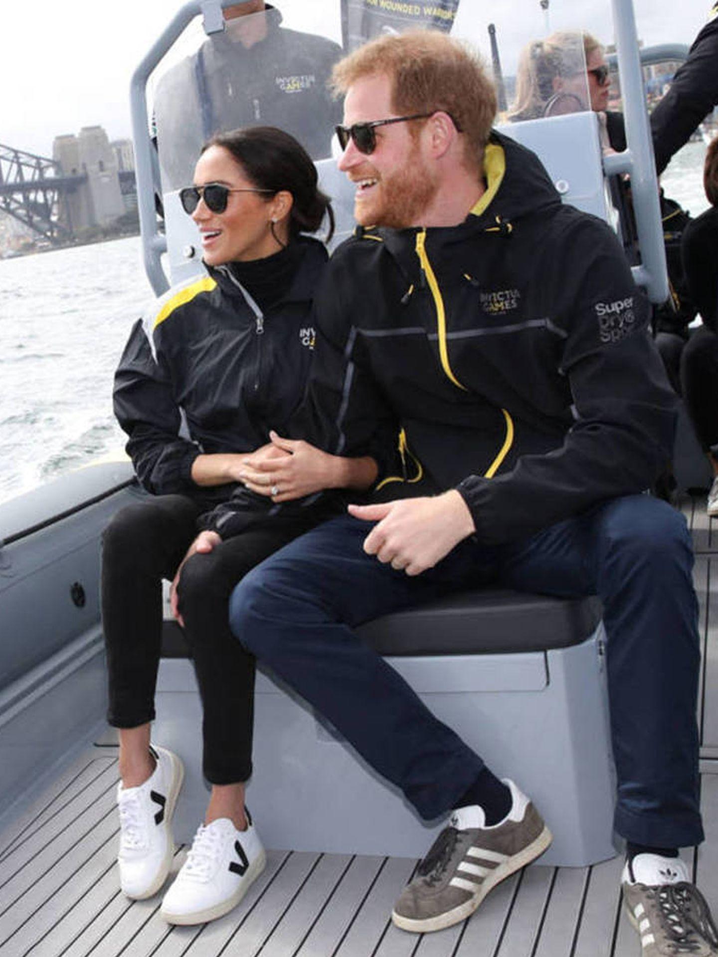 Meghan Markle y el príncipe Harry, en Australia. (Getty)
