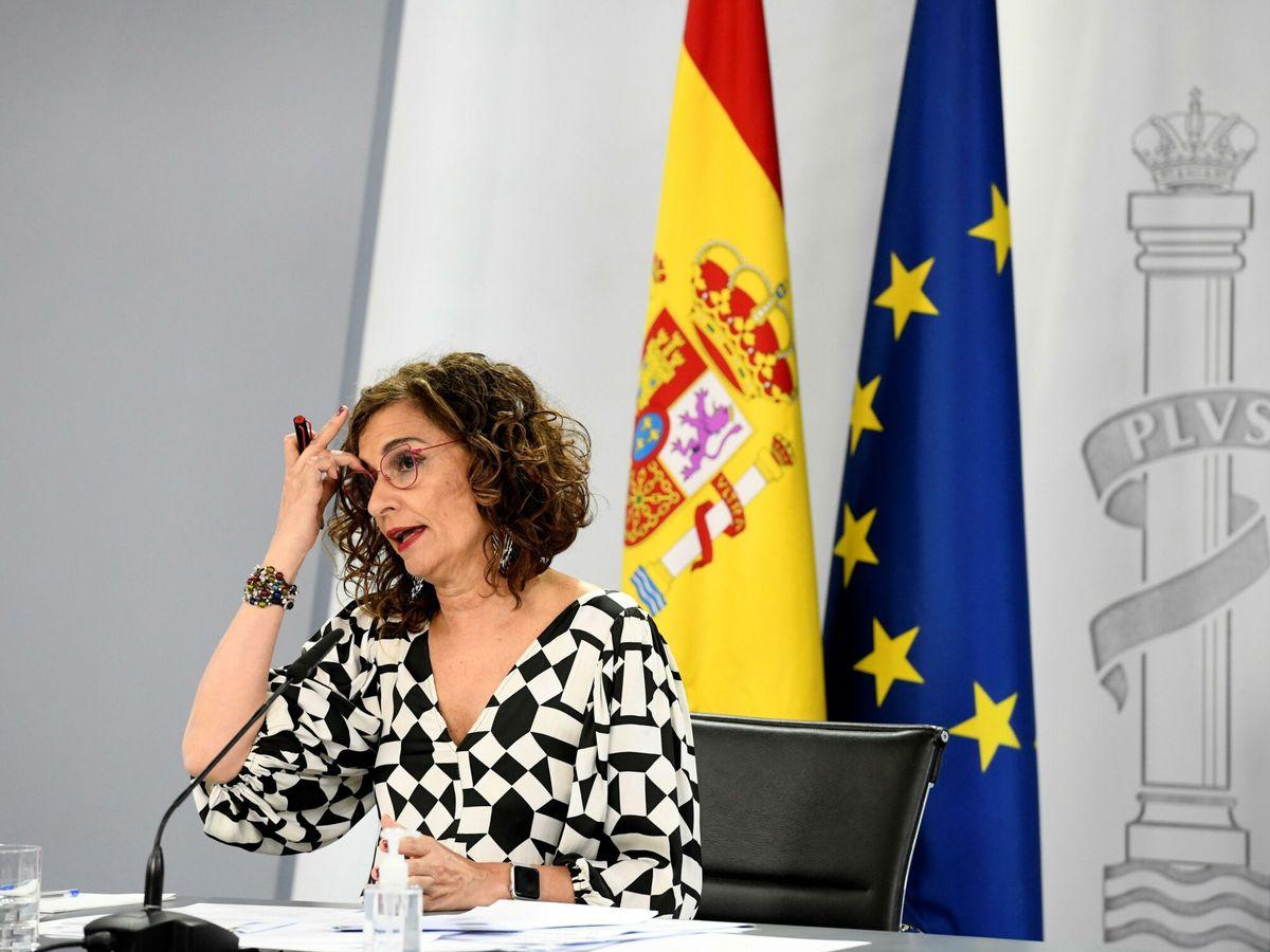 Foto: La ministra de Hacienda y portavoz del Gobierno, María Jesús Montero, en rueda de prensa el pasado martes tras la celebración del Consejo de Ministros. (EFE)